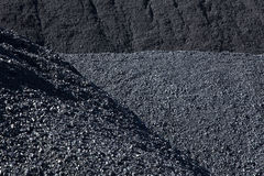 Coal. The heap of black natural coal, can be used as a background Stock Images