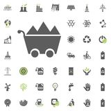 Coal icon. Eco and Alternative Energy vector icon set. Energy source electricity power resource set vector. Coal icon. Eco and Alternative Energy vector icon Stock Photos