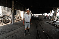 Coal India Worker. A portrait of the coal mine worker Stock Images