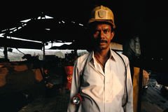 Coal India Worker Royalty Free Stock Photo