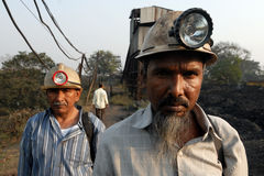 Coal India Worker Royalty Free Stock Images