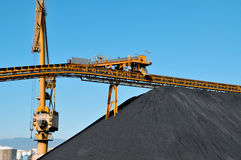 Coal industry. Closeup of the facilities of a coal industry Royalty Free Stock Image