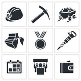 Coal industry icon collection Stock Photo