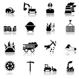 Coal Industry Icons Stock Image