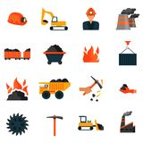 Coal industry icons Stock Photo