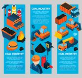 Coal Industry Isometric Banners Royalty Free Stock Photography