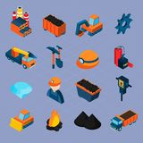Coal Industry Isometric Set Stock Photos