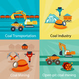Coal industry vector concepts Stock Photography