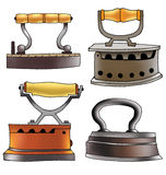 Coal iron Ironing appliances cast iron Stock Images