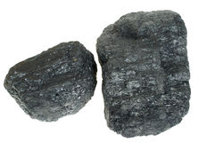 Coal isolated Stock Images