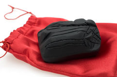 Coal Isolated. With Red Bag, perfect for christmas Stock Photography