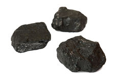 Coal. Isolated on the white background royalty free stock photo