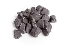 Coal isolated on white background. Royalty Free Stock Photography