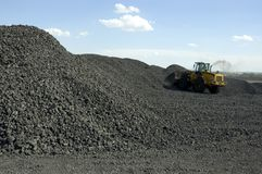 Coal Loading. Industrial plant where coal is loaded for screening royalty free stock image