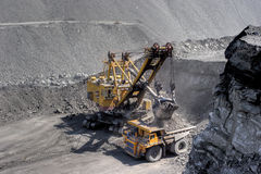 Coal loading. stock photography