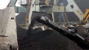 Coal Loading Conveyor Belt stock video