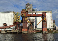 Coal loading dock Royalty Free Stock Image