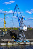 Coal loading machinery Royalty Free Stock Photo