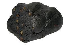Coal loaf of raisin bread Stock Image