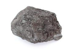 Coal lump on white background Royalty Free Stock Photography