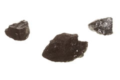 Coal lumps carbon nugget isolated on white Stock Image