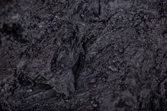 Coal lumps on dark background. Close-up Stock Photography