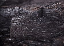 Coal lumps pattern Stock Photo