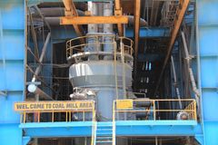 Coal Mill of a thermal power plant. Coal mill of thermal power plant, UP, India Stock Photography