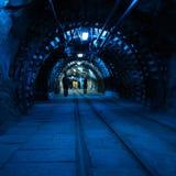Coal mine. Corridor in the old coal mine royalty free stock image