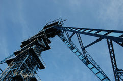 Coal mine. Tower on blue sky Stock Photos