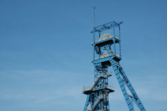 Coal mine. Tower on blue sky royalty free stock photos