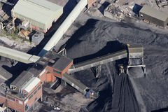 Coal mine aerial. Aerial of a Nottinghamshire coal mine Stock Image