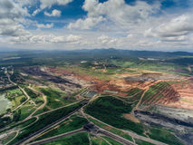 Coal Mine in Aerial View Royalty Free Stock Photography