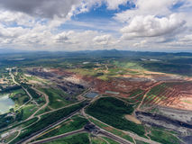Coal Mine in Aerial View. Coal Mine Aerial View in Thailand Stock Photography