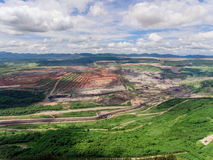 Coal Mine in Aerial View. Coal Mine Aerial View in Thailand Royalty Free Stock Photography