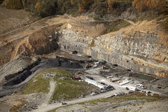 Coal Mine Appalachia. A view looking down on a coal mine in Appalachia royalty free stock photos