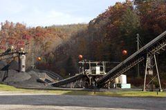 Coal Mine Appalachia. Working coal mine in Appalachia surrounded by forest royalty free stock photo