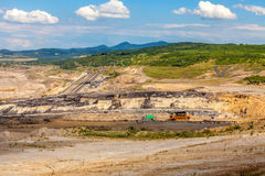 Coal mine,Czech Republic. Cloudy sky stock photos