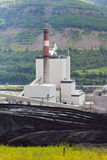 Coal mine electrical energy power plant in nature Stock Photos