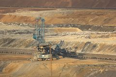 Coal Mine Excavation. Open pit mining of coal Royalty Free Stock Photo