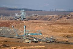 Coal Mine Excavation. Open pit mining of coal Stock Photography