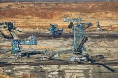 Coal Mine Excavation. Open pit mining of coal Stock Image