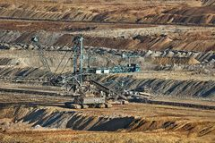 Coal Mine Excavation. Open pit mining of coal Royalty Free Stock Image