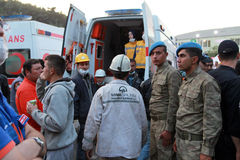 COAL MINE EXPLOSION AT SOMA, MANISA. Stock Images