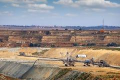 Coal mine with giant excavator Stock Images