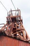 Coal mine head gear Stock Images
