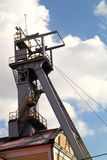 Coal mine headgear tower Stock Photography
