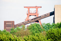 Coal mine headgear tower in Essen Ruhr Germany Royalty Free Stock Photo