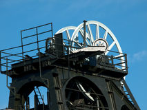 Coal Mine Headstocks at Pleasley England Royalty Free Stock Image
