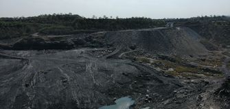 COAL MINE IN INDIA & x28;JHARKHAND& x29; stock image
